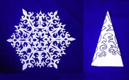 ажурная снежинка