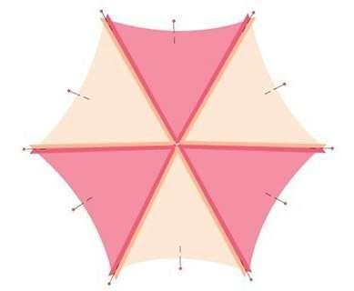 Рассмотрите, пожалуйста, как мы должны сложить треугольные заготовки: