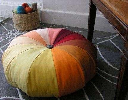 круглый пуф - подушка