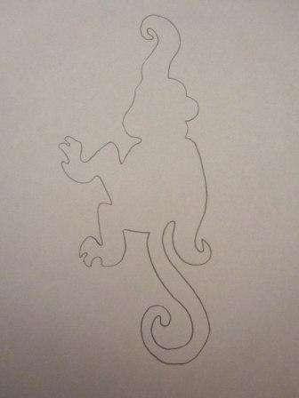 Перед вами образец шаблона обезьяны, который нужно или очень точно перерисовать, или же просто скачать распечатать на принтере