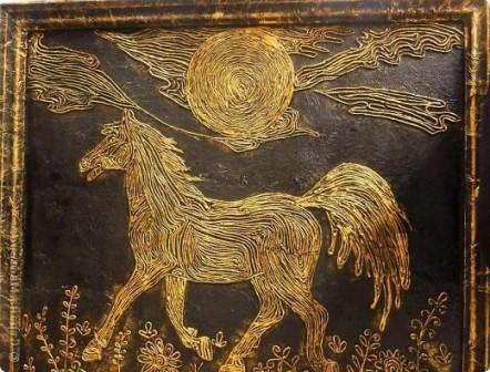 пейп арт картина с изображением коня