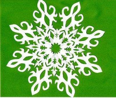 ажурная снежинка схема