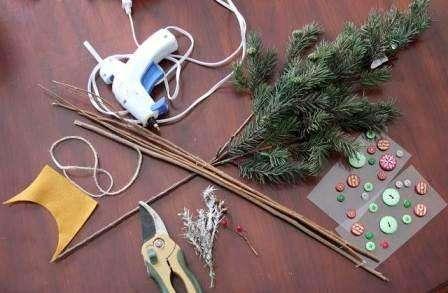 Как делать игрушку на елку, мастер класс