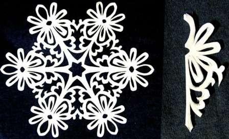 Как вырезать красивую снежинку. Трафареты. Схемы