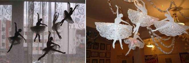 Как сделать снежинок балеринок из бумаги