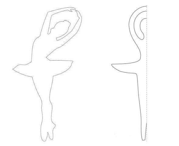 схемы балерин для вырезания