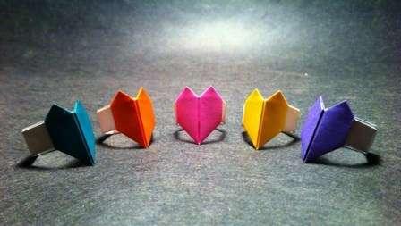 Бумажный поделки сердечки. Как делать оригами