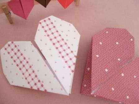 поделка сердце из бумаги