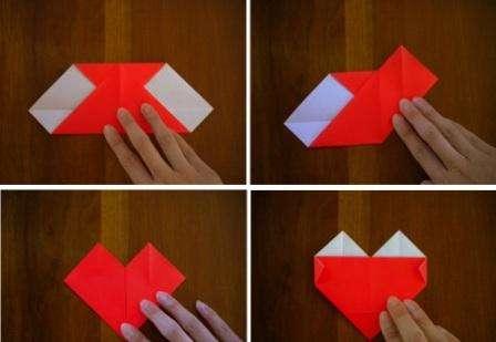 Для того чтобы сделать такую поделку, вам понадобится квадратный листок бумаги. Сложите его по диагонали два раза, чтобы получилась диагональная разметка.