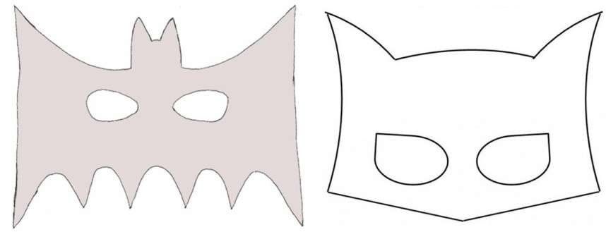Для того чтобы сделать маску Бэтмена, вам нужно подобрать подходящий шаблон и черный материал.