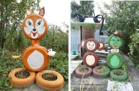 Креативные поделки для сада