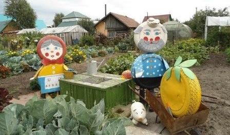 Поделки своими руками на сад участке