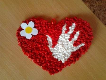 Как сделать бумажное сердце из салфеток. Мастер-класс