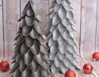Мастер-класс: елка из пластиковых ложек своими руками