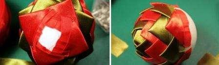 Продолжайте закреплять ваши детали на пенопластовый шарик до тех пор, пока не дойдёте до нижней части.