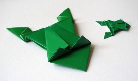 Как сделать из бумаги лягушку, которая прыгает