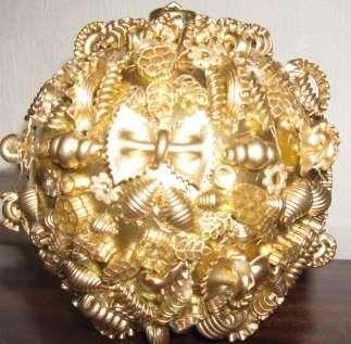 Основой для создания ёлочных шаров из макарон будет служить обычный, всеми нами любимый, воздушный шарик!