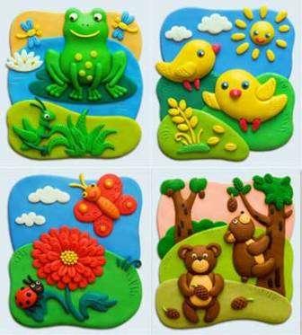 Предлагаем вам несколько схем, с помощью которых вы сможете сделать забавных животных из пластилина вместе с ребенком.