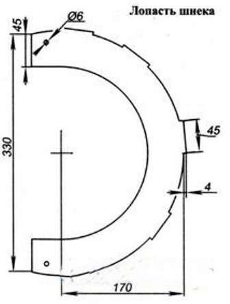 Чтобы при вращении вала лопасти не ударялись, следует прикрутить их отмеряв одинаковое расстояние по обе стороны вала
