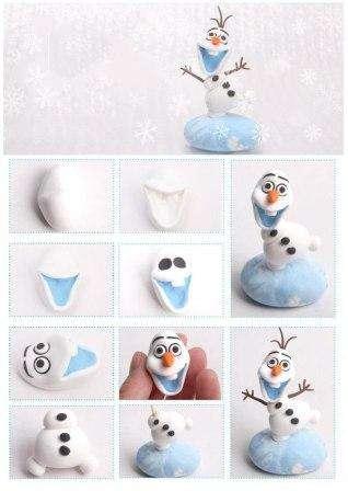 Снеговик из глины полимерной своими руками