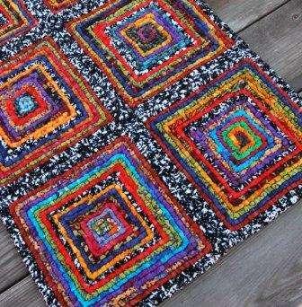 вязание ковриков из старых вещей