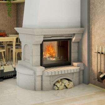 Дровяная печь для дачи длительного горения. Фото