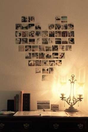 Если вы решите просто наклеить фотографии в форме сердце на стену, помните, что со временем они выцветают. Еще один способ их защиты – ламинирование.
