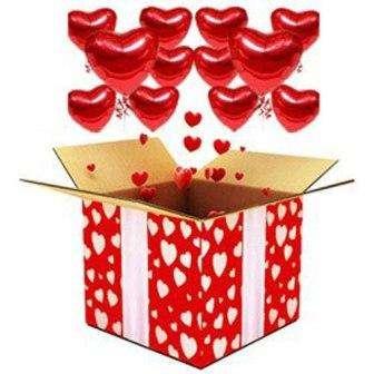 Предлагаем вашему вниманию еще один «шедевр» - коробка с парящими сердечками!