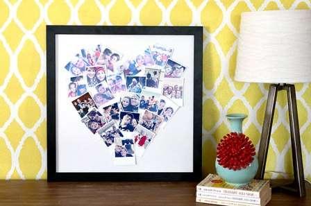 Поделка коллаж из фото в форме сердца