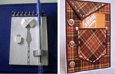 блокнот и открытка рубашка