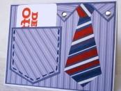 Объемная открытка папе. Бумажная открытка с галстуком