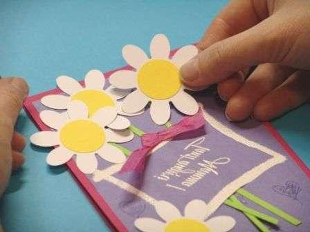 Подарок маме открытка своими руками. Мастер-класс с фото