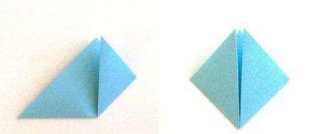 Квадраты нужно сложить по диагонали и углами положить к верху