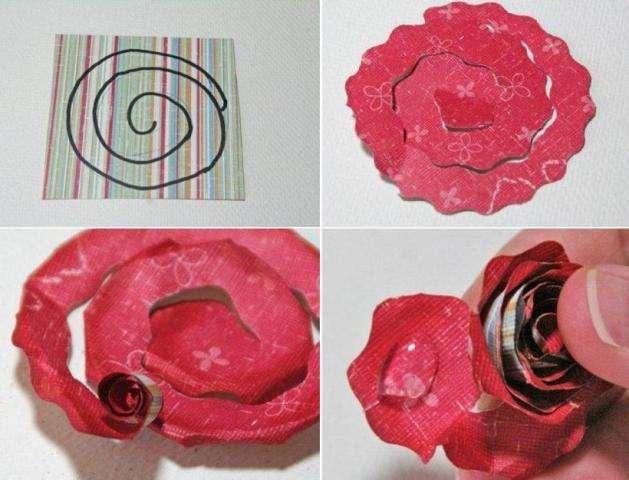 Итак, расскажем, как делать розу из бумаги для подарка