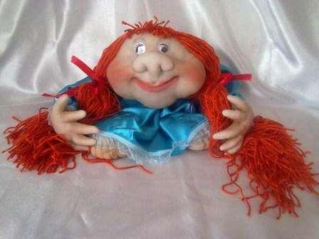 Как сделать пошагово куклу из капроновых колготок. Фото