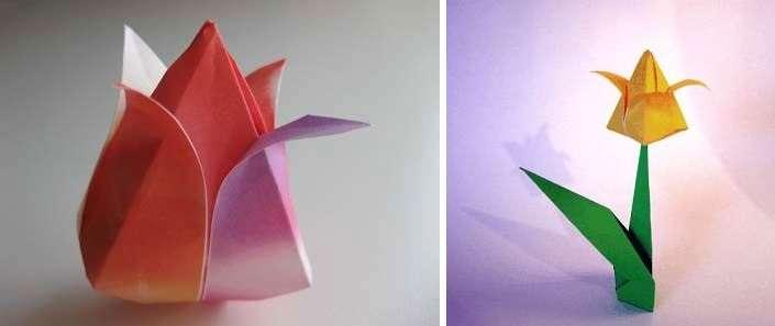 306Как сделать оригами тюльпанов своими руками