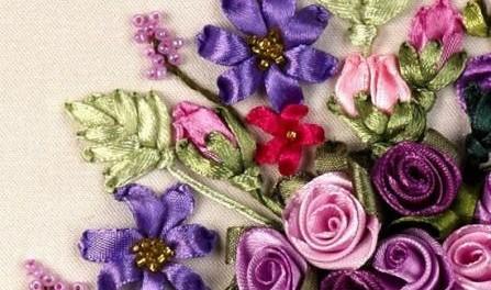 Азы вышивки лентами своими руками. Фото и видео 63fbf7e90500e