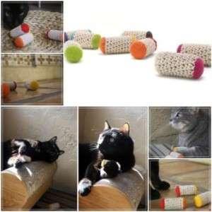 игрушка для кота из пробок