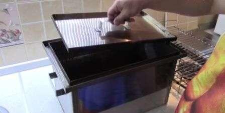 Коптильня с газовой плиты своими руками