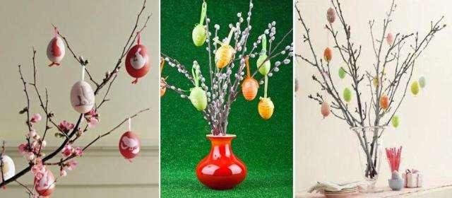 Соберите композицию на свое усмотрение и положите на подоконнике красивые яйца.