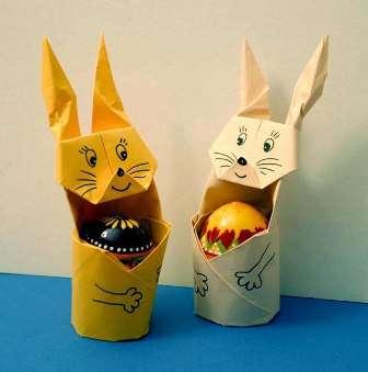 Пасхальный кролик оригами своими руками