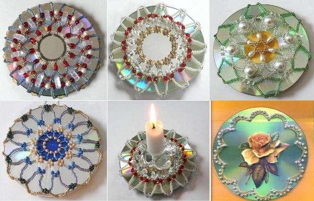 Как сделать цветок из дисков своими руками фото 443