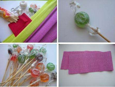Простые букеты из конфет для новичков. Как сделать с пошаговым фото