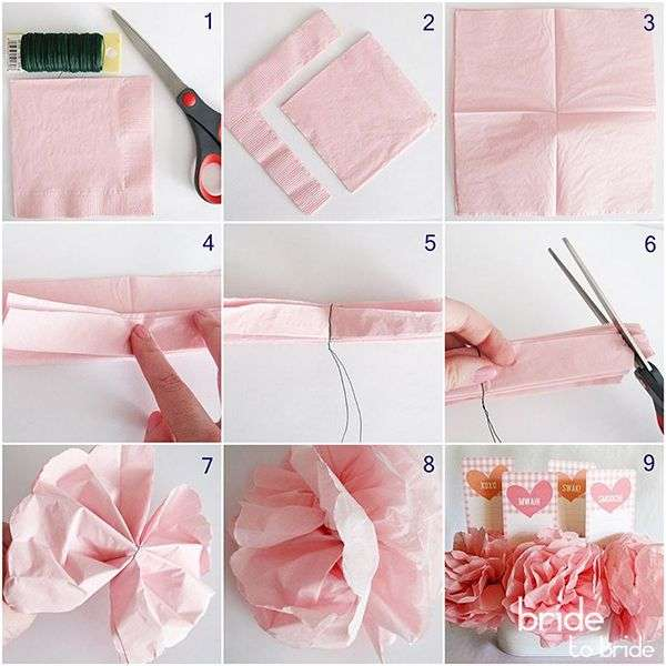 Как сделать цветок из салфетки своими руками поэтапно фото