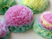 Цветы из салфеток своими руками. Пошаговое фото легкие