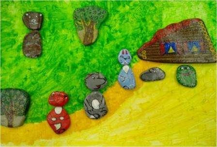 Летние поделки: роспись на камнях для начинающих