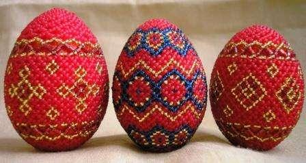 Пасхальные яйца из бисера мастер класс с пошаговым видео