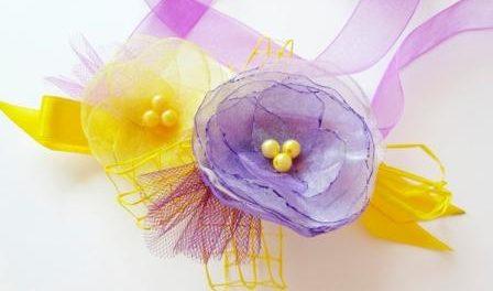 Цветы из органзы своими руками, мастер класс для начинающих