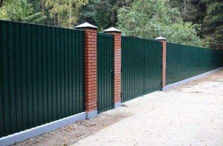 дачные ограды из профлиста