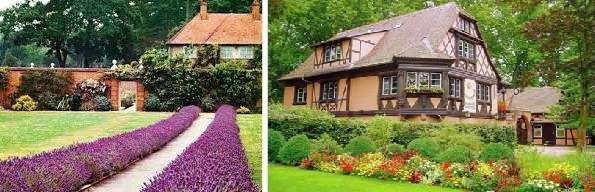Бордюр. Этот цветник идеально подходит для участка с садовыми дорожками. Высаживайте низкорослые растения вдоль дорожки или возле стены дома, чтобы подчеркнуть какую-то границу. Для этого цветника